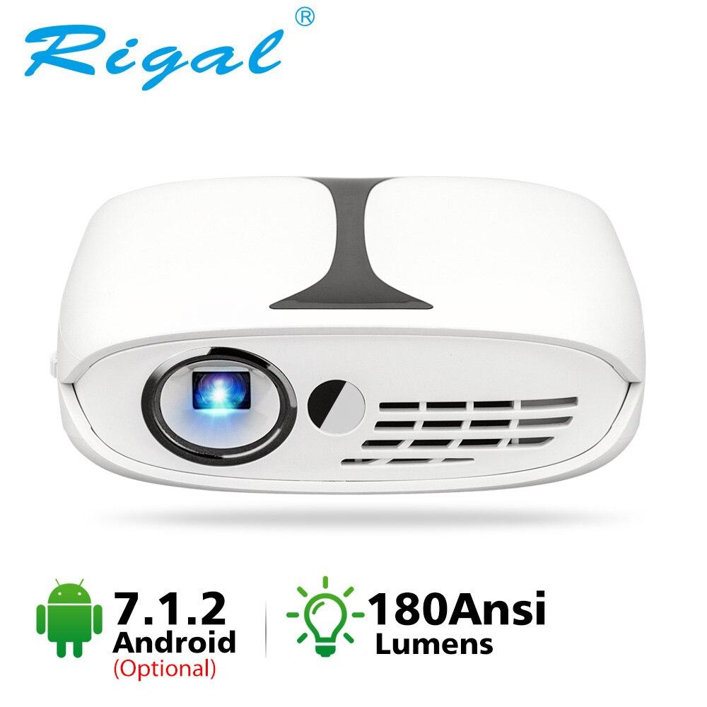 RD606 Mini DLP Projektor HD LED DLP Wifi Projektor Optional Android 7,1 Tasche Pico Projektoren Batterie Unterstützung 3D Heimkino
