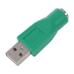 Image 1 - Convertisseur adaptateur PS / 2 femelle vers USB mâle pour clavier souris souris