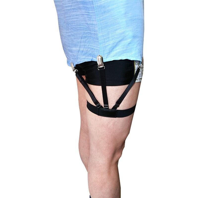 1 Pair Mens Shirt Stays Garters Holder Adjustable Shirt Holders Resistance Belt Shirt Suspenders For Men Locking Clamps