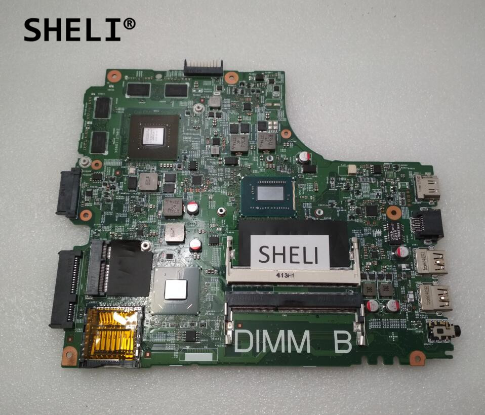 SHELI For DELL 2421 3421 5421 Motherboard With I3-3227u Cpu CN-0YKN1H 0YKN1H YKN1H