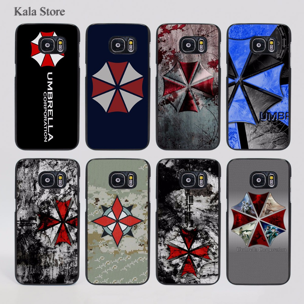 Umbrella Corporation Theme Resident Evil Pattern hard black Case Cover for Samsung Galaxy s7 s6 edge s4 s5 mini note4 note5