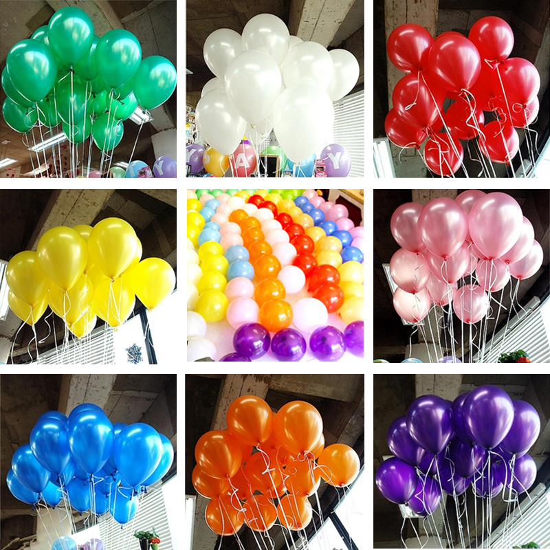 Hot 10pcs/lot 10 inch Pearl Balloon Air Balls Inflatable Wedding Party Decoration Birthday Kid Party Float Balloons Kids Toys