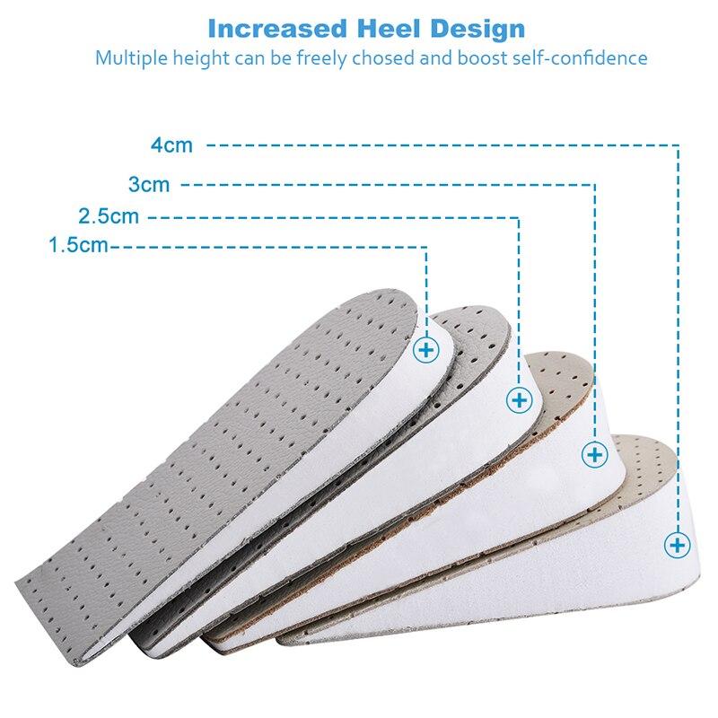3 pouces unisexe coussin d/'air hauteur croissante semelles chaussure talon paire taller ascenseurs