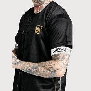 Image 5 - İspanya Sik ipek ipek beyzbol forması T gömlek erkekler yaz Streetwear erkek T Shirt Hip Hop Tee Camisetas Hombre Siksilk t shirt erkekler