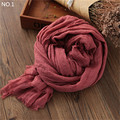 1PC Women Pashmina Loose Korean-Japanese Style Solid Warm Folded Wraps CJ191