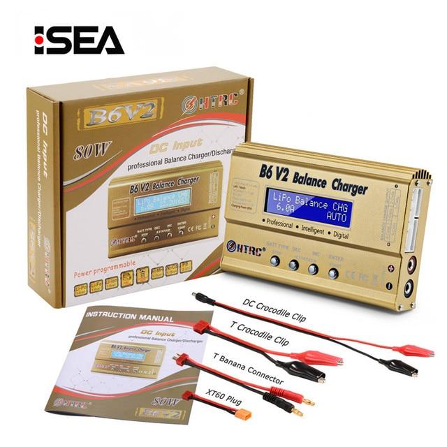 HTRC Imax B6 V2 80W Professional Digital Battery Balance Charger Discharger for LiHV LiIon LiFe NiCd NiMH PB LiPo Charger