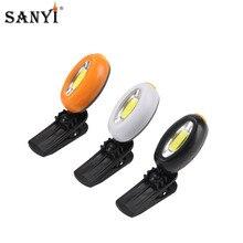 COB светодиодный налобный фонарь Кепки светильник 360 градусов поворотный зажим-на шапке светильник хэндс-фри фара для велоспорта и отдыха на природе, с крышкой в виде Фонари с Батарея