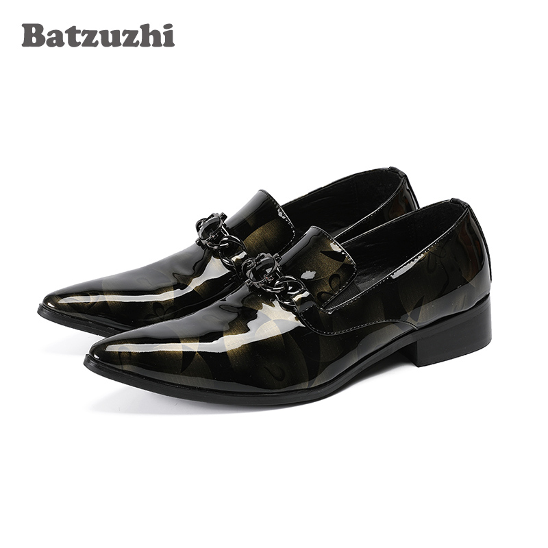 Batzuzhi Handmade Luxury Mens Shoes Pointed Toe Brand Leather Dress Shoes Formal Business Leather Shoes for Party and WeddingBatzuzhi Handmade Luxury Mens Shoes Pointed Toe Brand Leather Dress Shoes Formal Business Leather Shoes for Party and Wedding