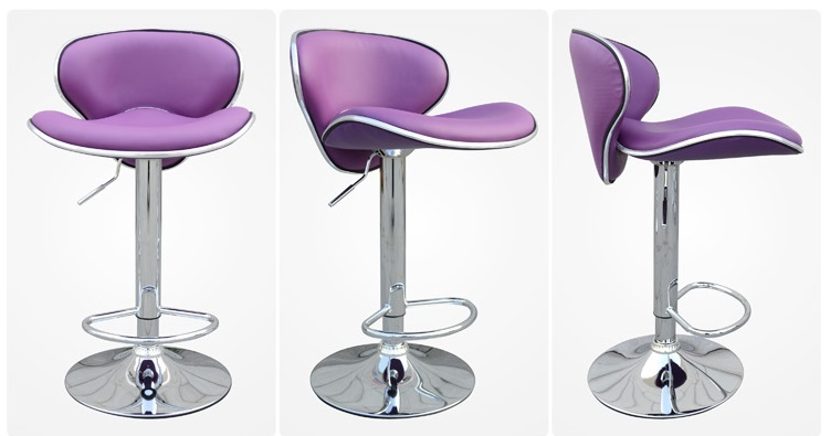 dining hall chair restaurant purple color stool bar coffee house chair retail wholesale free shipping