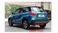 Car styling ABS D'origine fonds Avant + Arrière Pare-chocs Avant photo décoratif plaque de couverture fit pour 2015-2017 SUZUKI Vitara