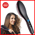 2017 LCD Display Ceramic Electric Hair Straightener Brush Comb Fast Hair Straightener hair iron straighteners with comb