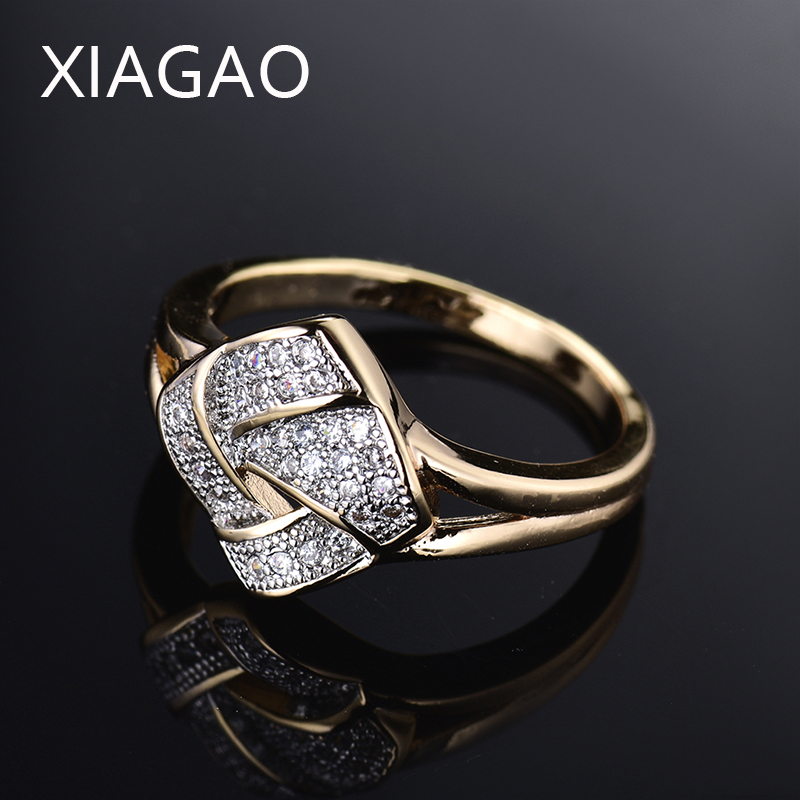 XIAGAO Exquisite Rhombic Shape Marquise AAA Cubic Zircon Rings for Women Noble Design Ring Anillos Anel R281