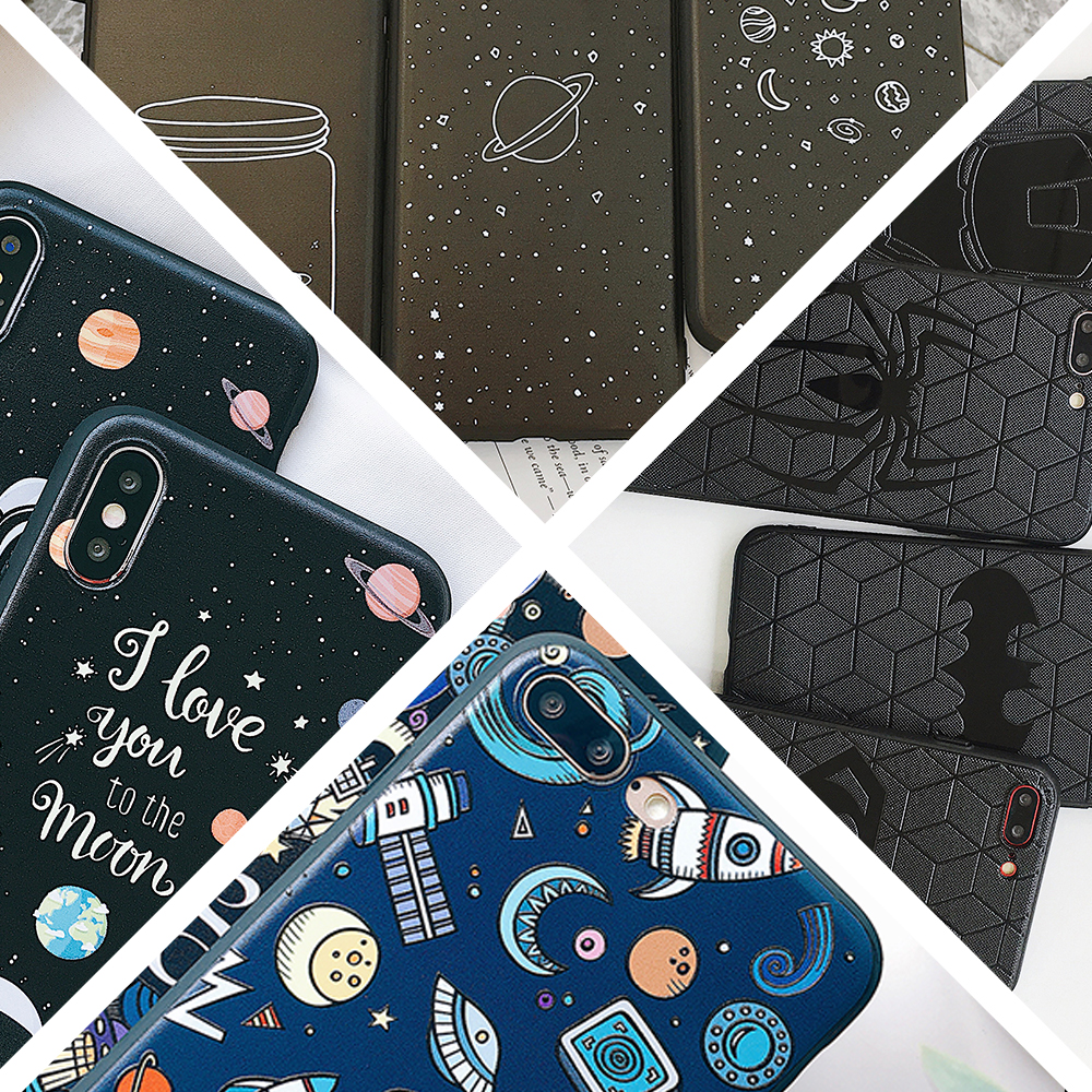 buy popular 27e8d 165d4 US $2.74 6% OFF|Aliexpress.com : Buy For iPhone 6s 7 7p 8/8plus Draw the  starry sky Mobile phone bags for iPhone X XS XR xs max Superhero MID soft  tpu ...