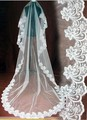 Cheap Price Wedding Accessories 2016 Veu De Noiva White Cheap Wedding Veil Lace Bridal Veil 3 Meters In Stock