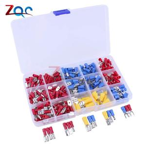 280pcs Assorted Insulated Electrical Wire Crimp Cable Connector Spade Butt Ring Fork Set Ring Lugs Rolled Terminals Kit