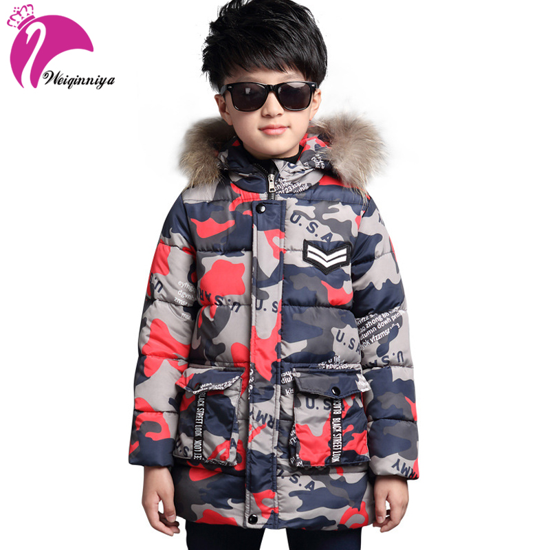 2017 New Winter Kids Cotton Warm Coat For Boys & Girls Brand Camouflage Hooded Jacket Fashion Children Outwear 2016 winter children s jacket fashion girls boys cotton hooded coat kids boy jacket warm outwear thin models send pouch 16a12