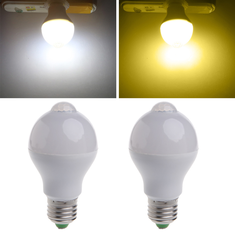 LED Bulb w/Motion Sensor E27 5W 7W PIR Activatived Energy Saving Night Lamp L15 energy чайник energy e 205 1 7 л диск синий