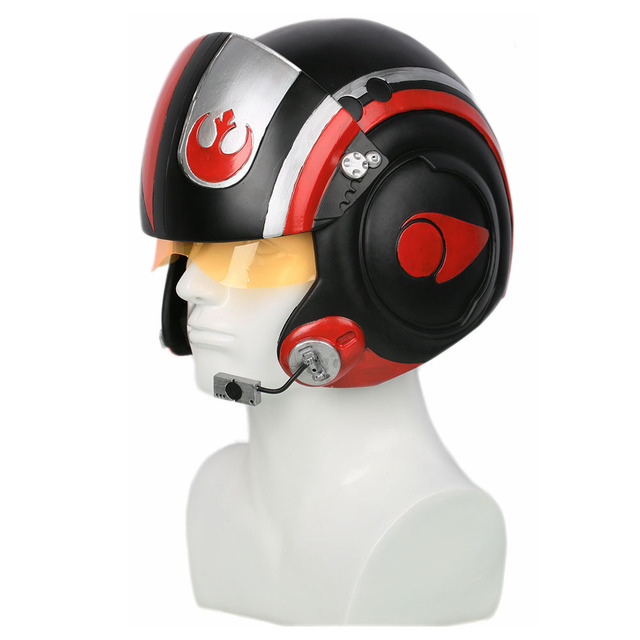 XCOSER Star Wars Poe Dameron Pilot Helmet X-wings Full Head Mask Racing Helmet Movie Cosplay Props Accessories Helmets For Men 2