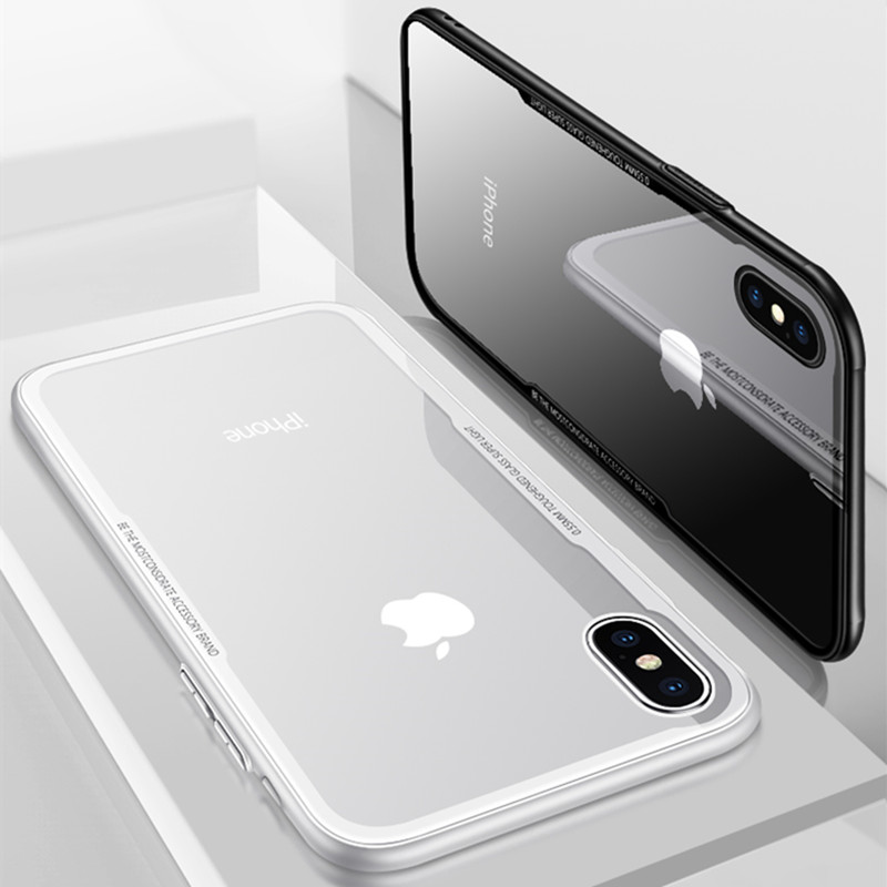 f878438340c Luxury Tempered Glass Back Cover For Iphone X 10 Case Soft TPU Edge Ultra  Thin Clear Protect Iphone 7 8 6 6S Plus Shell