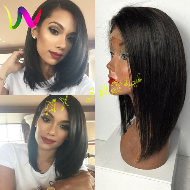 Synthetic Lace Front Wigs With Baby Hair Artificial Hair Bob Cut ...