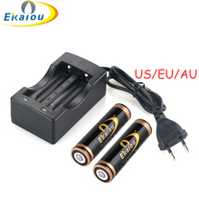 18650 Battery Charger Universal Dual Slot Charger Rechargeable Li-ion Battery+ hight quanlity 18600 4000MAH Rechargeable Battery