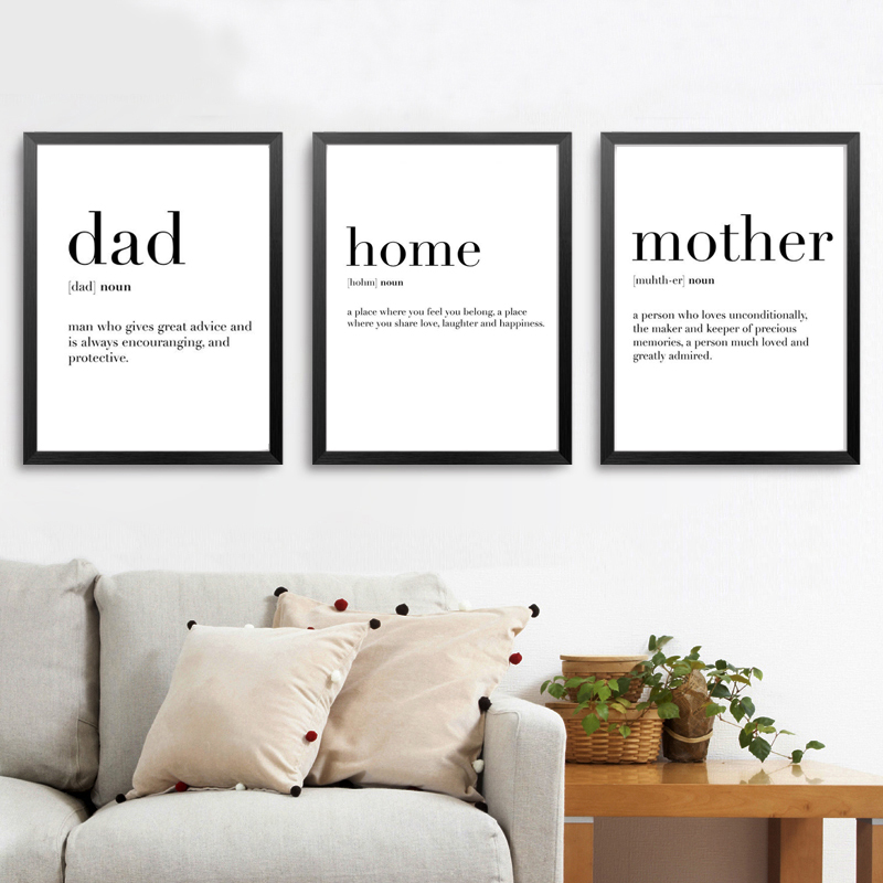 Quote life Inspirational family love 100/% cotton Canvas wall arts home decor