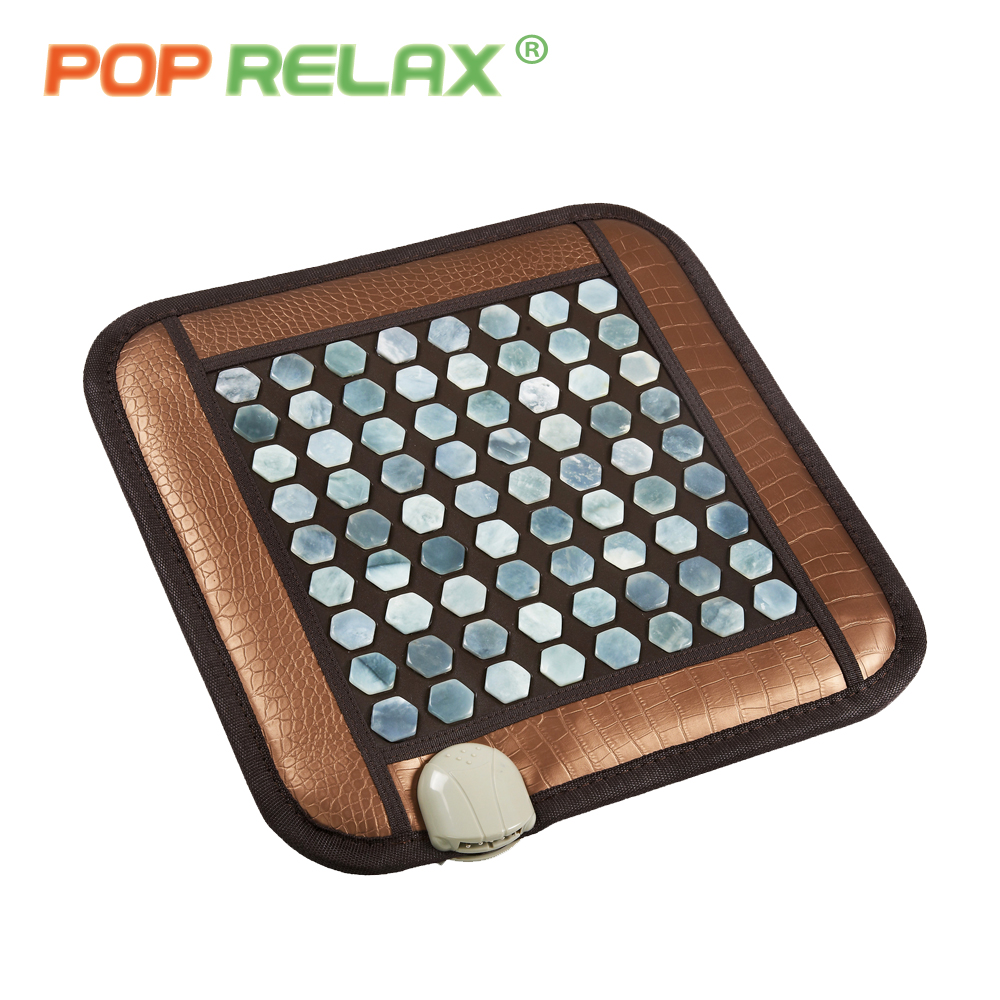 POP RELAX jade seat health mattress heating pad far infrared physiotherapy natural jade stone office chair sit mat mattress 110V pop relax 110v natural jade massage mat far infrared thermal physical therapy healthcare pain relief jade stone heating mattress