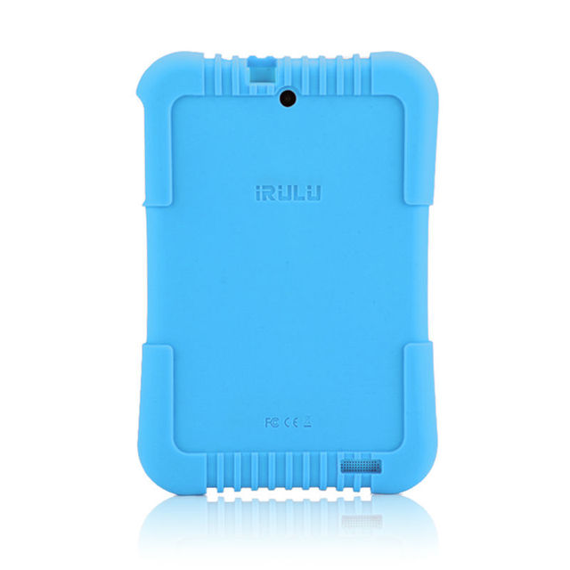 2017 Original iRULU Y3 7″ Babypad 1280*800 IPS A33 Quad Core Android 5.1 Tablet PC 1G/16G Silicone Case for children Candy Color