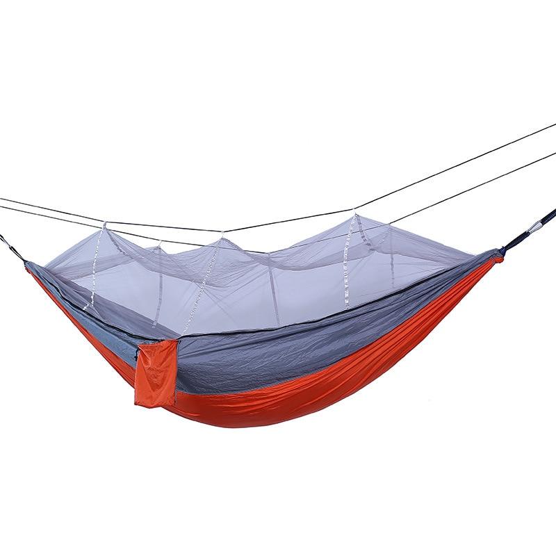 Image 4 - Camping Parachute Hammock Survival Garden Outdoor Furniture Leisure Sleeping Hamaca Travel Double Hammock 260*140cm-in Hammocks from Furniture