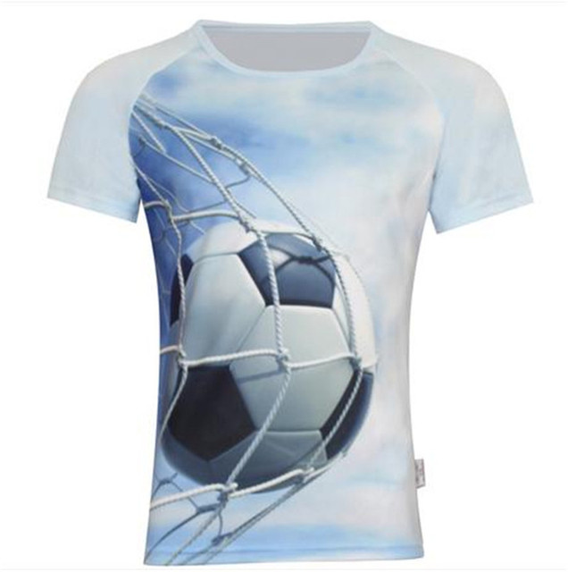 2016 Summer Children Fashion 3D T Shirt Print Football Animal Horse Cartoon 100% Dry Quickly Polyster Tops Funny Sport Clothes