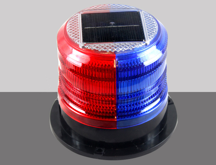 Solar red and blue warning lights, magnet signal lights, rainproof box lights, construction traffic barrier lights, flashing