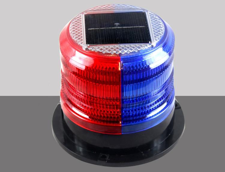Solar Red And Blue Warning Lights, Magnet Signal Lights, Rainproof Box Lights, Construction Traffic Barrier Lights, Flashing