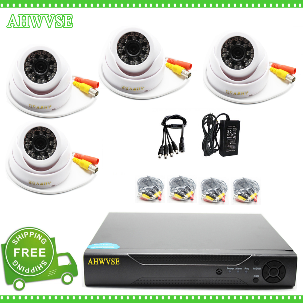 AHWVSE 1280* 720P HD 2500TVL Indoor Security Camera System 1080P HDMI CCTV Video Surveillance 4CH DVR Kit AHD Camera Set 720p hd indoor ir home security camera system 4ch 720p hdmi ahd dvr cctv video surveillance kit ahd camera set dhl freeship