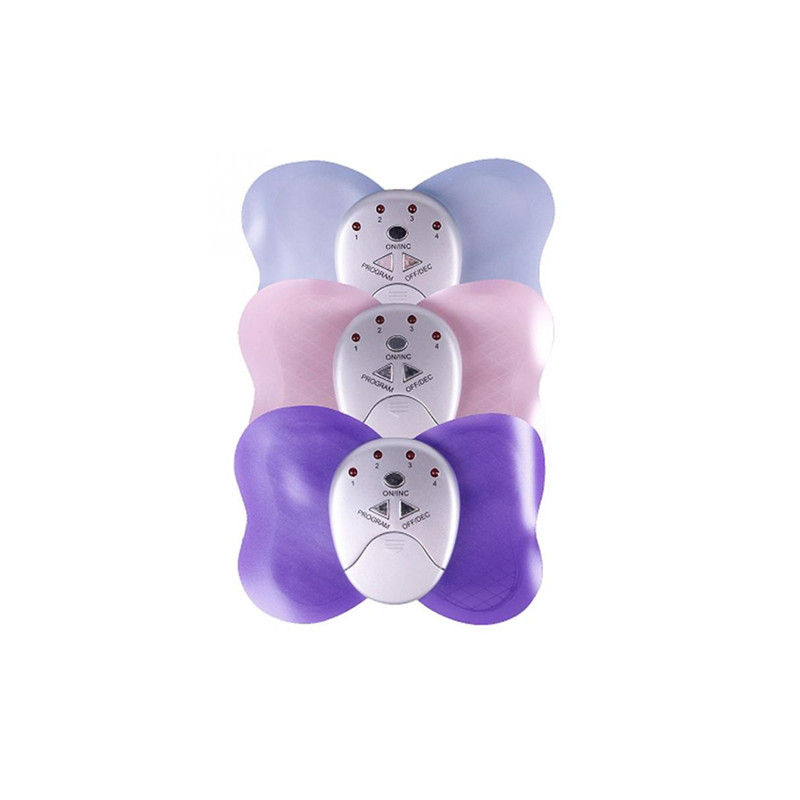 Butterfly Electric Massager Pads Electrode Therapy ABS Muscle Trainer Stimulator Body Massage Waist Weight Loss Health Care