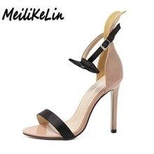 Meilikelin женские классические модные разноцветные сандалии Обувь на высоком каблуке Женская обувь бабочка-узел обувь пикантные женские туфли на шпильках