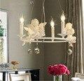 Современные лампы Блеск светильник ing Led подвесные креативные хрустальные люстры с ангелом для гостиной светильник
