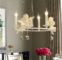 Modern Crystal Chandeliers With The Angel For Living Room Light Modern Lamps Lustre Lighting Led Pendant