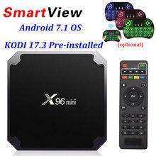 X96 Мини Android 7.1 Умные телевизоры коробке 2 ГБ 16 ГБ 1 ГБ 8 ГБ Amlogic s905w 4 ядра поддержка 4 К 30tps 2.4 ГГц Wi-Fi x96mini IP ТВ телеприставке