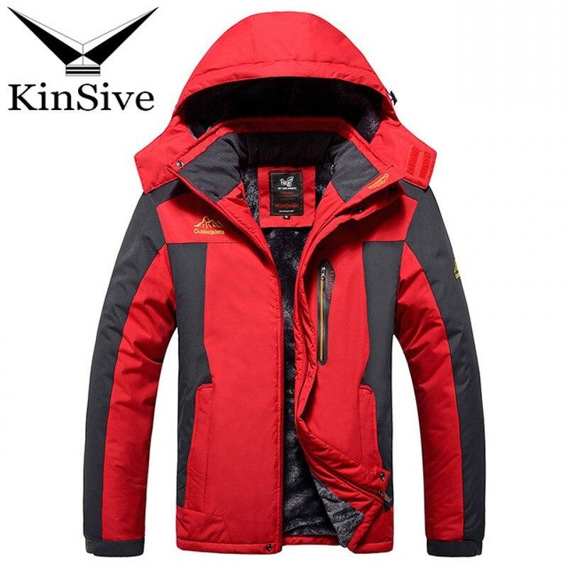Men Parkas 2018 Plus Size 6XL 7XL 8XL 9XL Thicken Fleece Warm Outwear Winter Coat Men Windproof Waterproof Hood Long Mens Jacket