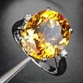 2017 Anillos Qi Xuan_natural Citrino Elegante Rings_finger Rings_s925 Astilla Plateó Real 18kpg Gold_manufacturer Directamente de las Ventas
