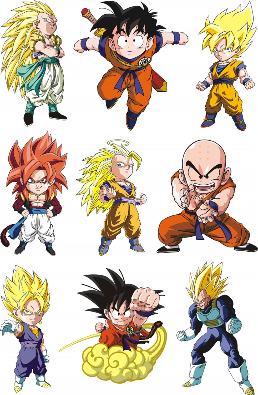 New Dragon Ball Stickers Wall Stickers Suitcase Fridge ...