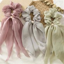 Винтажный шарф, бант, Женский держатель для волос, резиновый змеиный хвост, Летние повязки на голову, эластичные резинки для волос для девочек