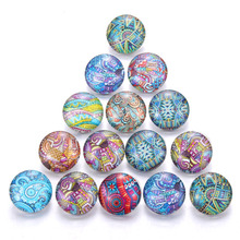 10pcs/lot New Design mixed Color graffiti Artistic style Glass Snap Button Fit 18mm Bracelet Necklaces Snap Button Jewelry color matching striped snap button up jacket