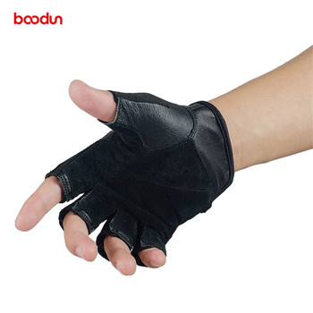 Boodun Genuine Leather Gym Gloves Men Women Breathable Crossfit Fitness Gloves Dumbbell Barbell Weight Lifting Sports Equipment 3