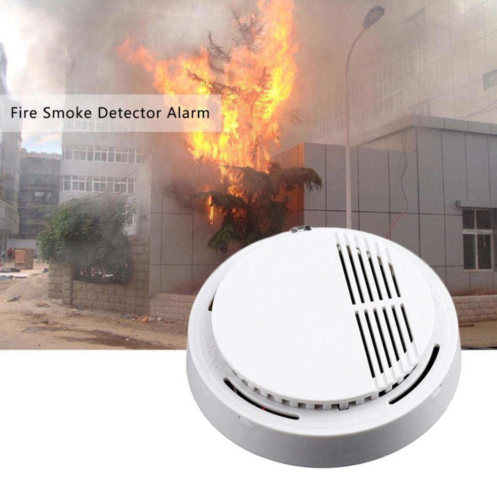 2PCS Fire Smoke Sensor Detector Alarm Tester Home Security System Cordless for Family Guard 433 MHz or 315 MHZ