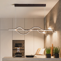 NEO Gleam Длина 1000 мм 37 Вт затемнения RC Новое поступление Современные светодиодные подвесные светильники для столовой кухни комнаты подвесной