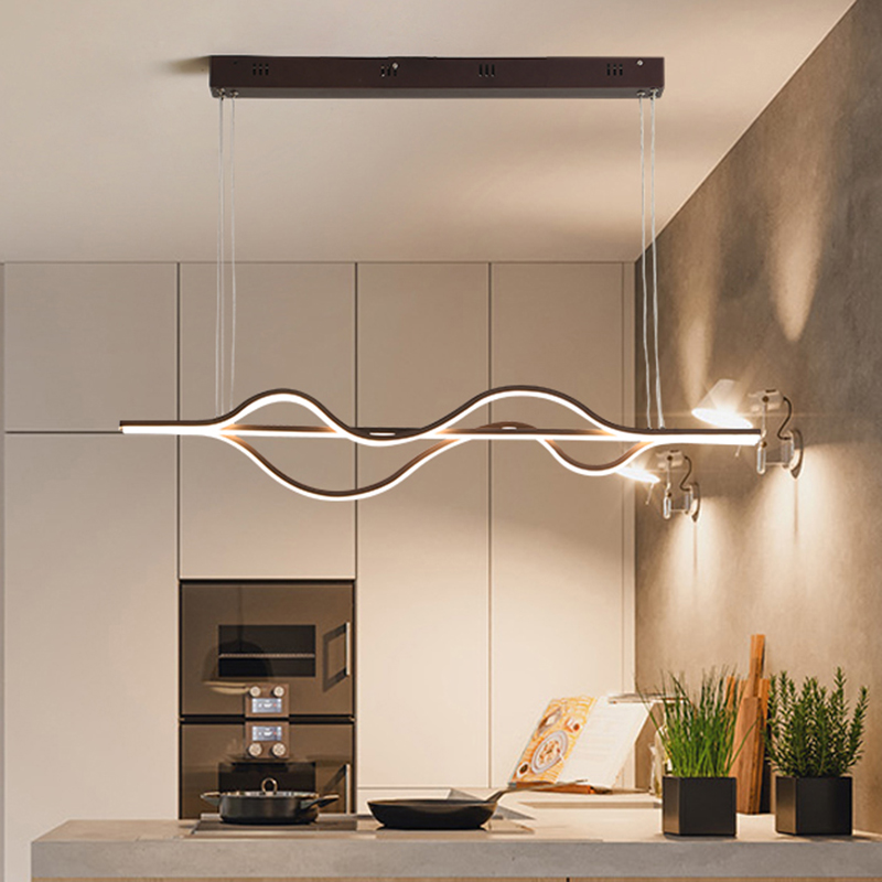 NEO Gleam Length 1000mm 37W Dimmable RC New Arrival Modern Led Pendant Lights For Dining Room Kitchen Room Bar Pendant Lamp