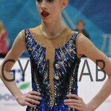 Роскошное платье для гимнастики ритмики женский костюм для гимнастики 91009
