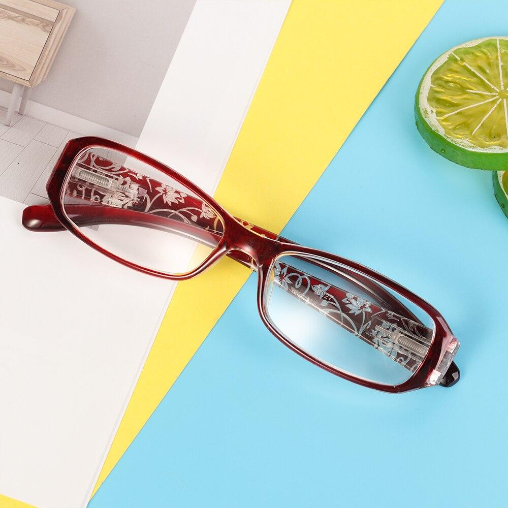2019 nueva moda mujer primavera bisagra flor impresión resina gafas de lectura señora gafas Protector presbiópico + 1,0 ~ + 4,0 Nuevas gafas de seguridad transparentes a prueba de polvo anteojos de trabajo laboratorio Dental gafas protectoras contra salpicaduras gafas antiviento
