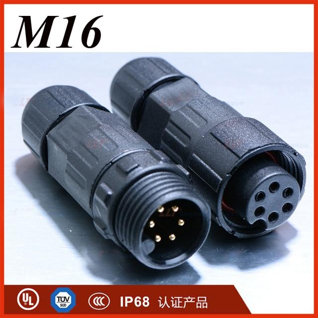 LLT M16 Kabelstecker 2 3 4 5 6 7 8 Pin Wasserdichtes IP67 Kabel ...